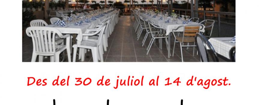 cartell vacances restaurant xarxes