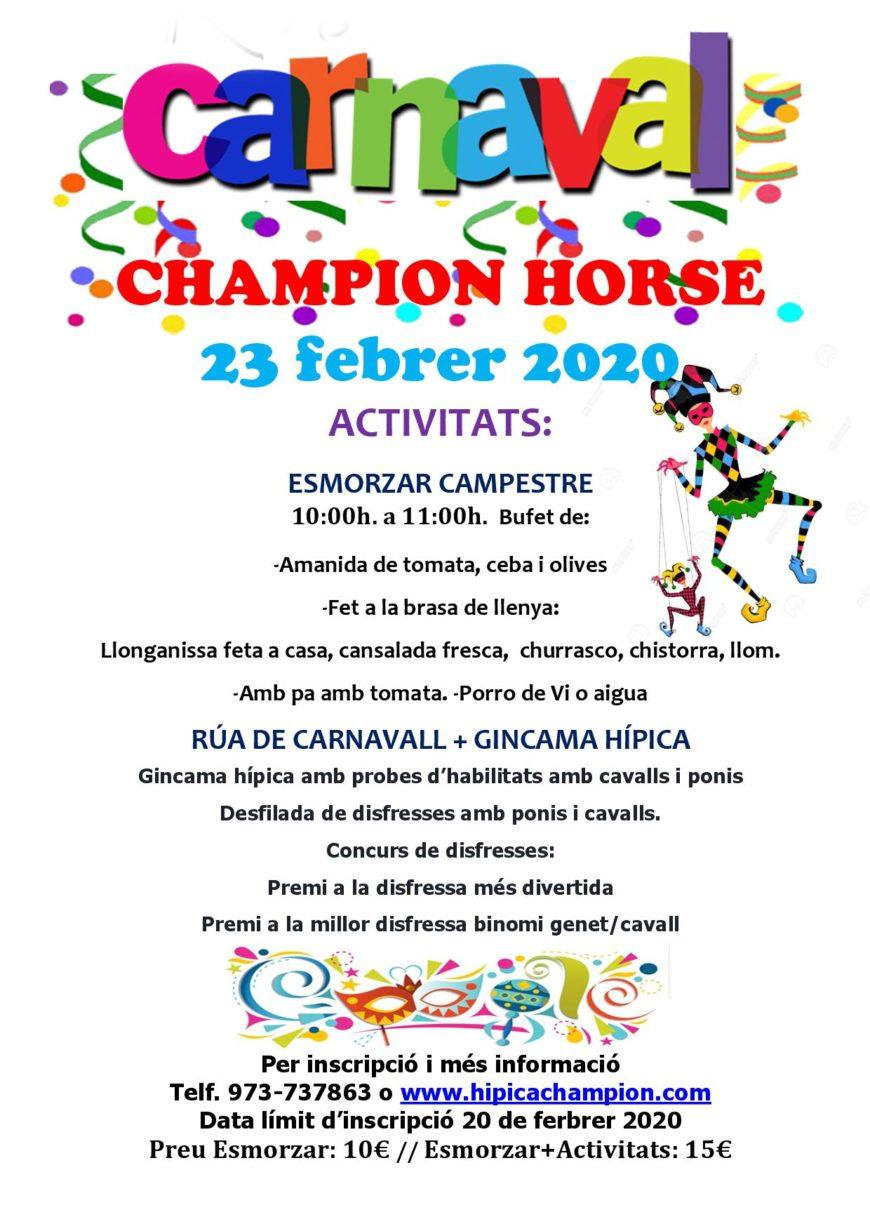 Carnaval a Hípica 2020